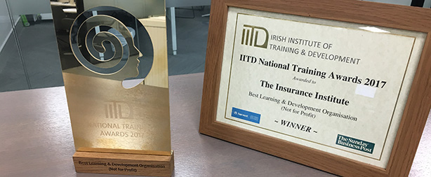 The Insurance Institute wins learning & development award for 2nd year running